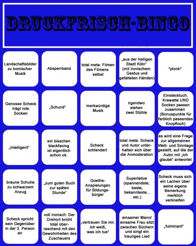 Druckfrisch Bingo